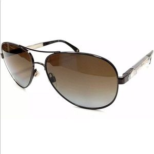 Chanel 4179 c.417/T5 Brown Metal Aviator Polarized